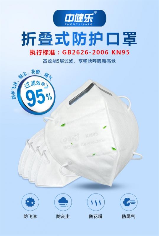 美国白名单KN9510个CE认证5层防尘面罩防尘雾霾飞沫透气防护口罩